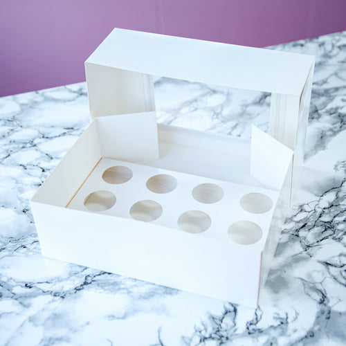 Sugar Sisters MINI  Cupcake Box - White (12s)