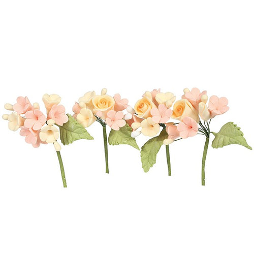 House of cake - 4 Mini Sugar Flower Sprays pastel