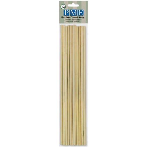 PME Bamboo Dowel Rods x 12
