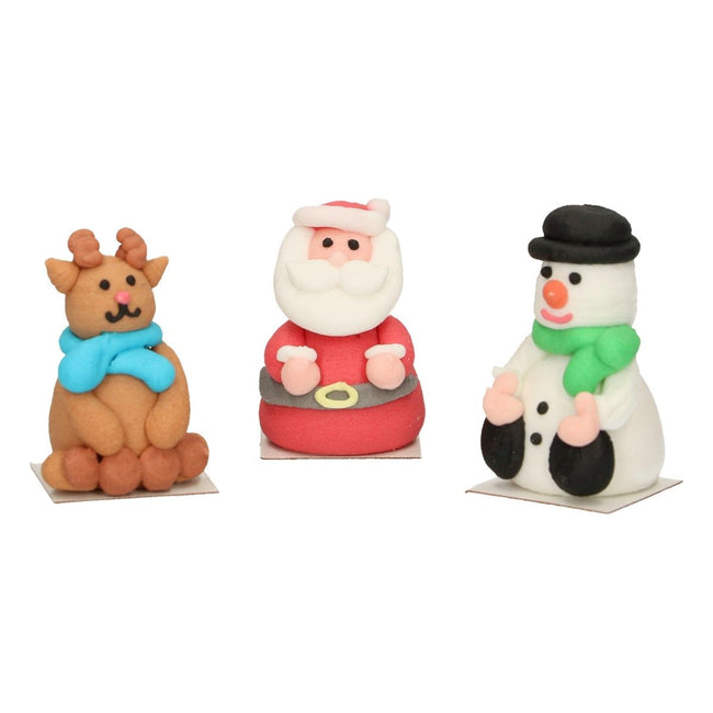 3D Christmas Sugar Decorations FUNCAKES