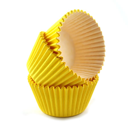 Cupcake Cases Sleeve 180 Yellow