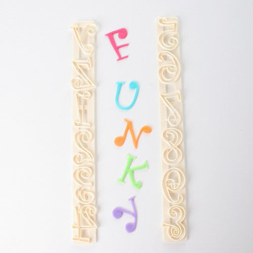 FMM Funky Tappit Cutters Uppercase Alphabet & Numbers