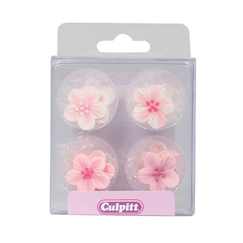 Culpitt Sugar Decoration 12 Pink Flower