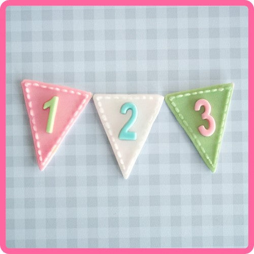 Bunting Numbers Mould Katy Sue