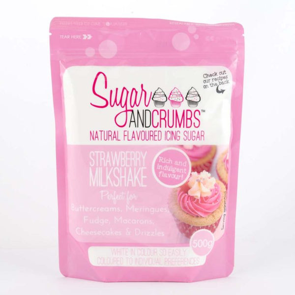 Sugar & Crumbs 500g Icing Sugar Strawberry Milkshake
