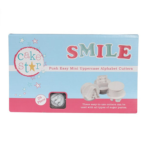 Cake Star Push Easy Mini Uppercase Cutters