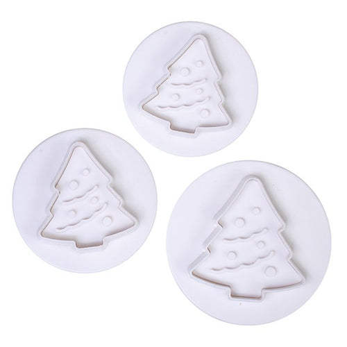 Cake Star Christmas Tree Plungers 3pcs