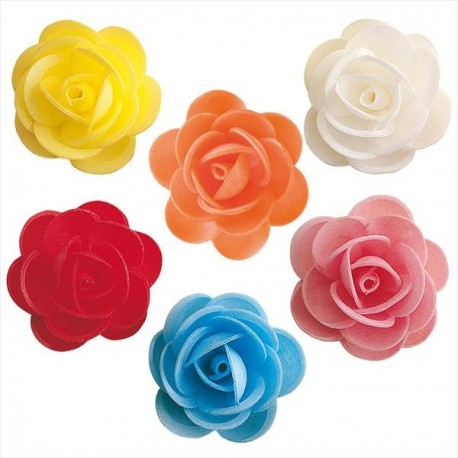 Assorted Wafer Roses 4.5cm 50pcs