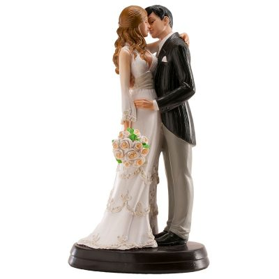 Wedding Couple, Bride holding flowers Ornament