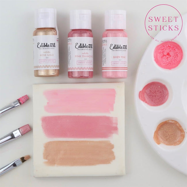Edible Art Paint 15ml Baby Pink