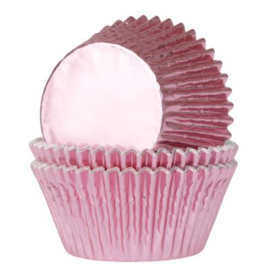 Baby Pink Foil Cupcake Cases Pk 24