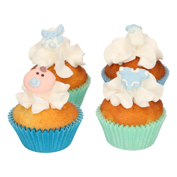 Baby Boy Sugar Decorations 8 Pcs  FunCakes