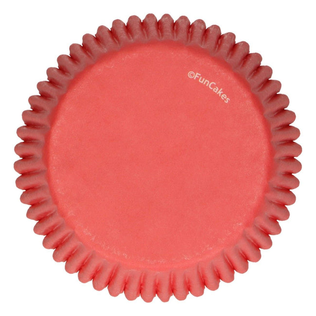 Red Baking Cup Pk 48