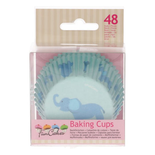 Blue Elephant  Baking Cup Pk 48