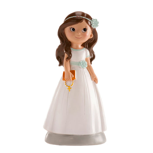 Communion Girl with Blue Ribbon 13cm
