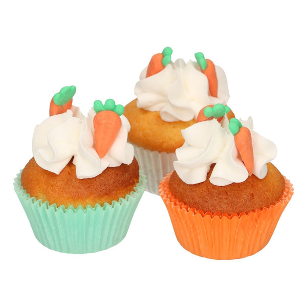 Carrot Sugar Decorations  16 Pcs  FunCakes