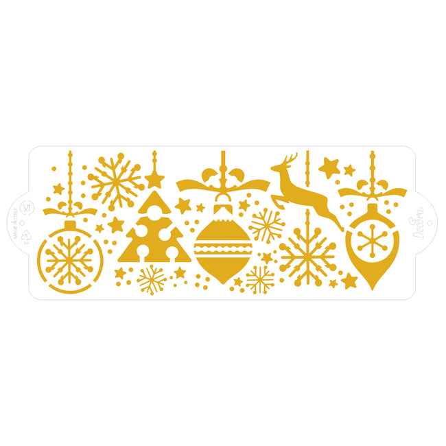 Christmas Decorations Stencil 10 x 28cm