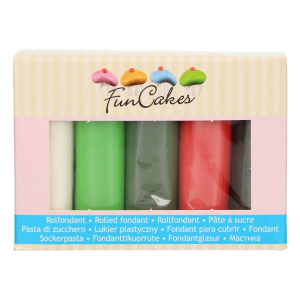 FunCakes Sugar Paste Multipack Christmas  5x100g