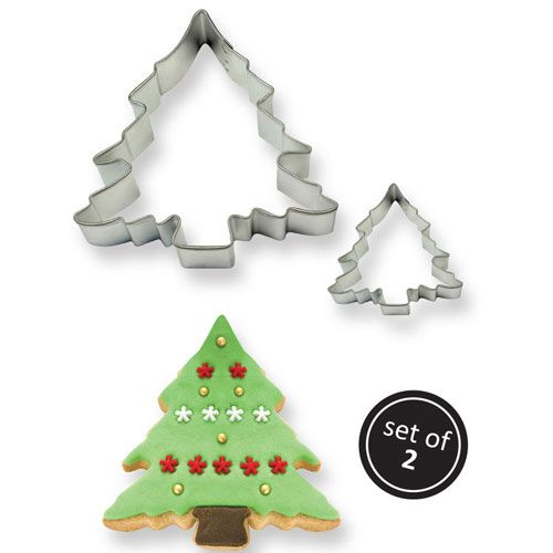 Christmas Tree Cookie Cutters Set 2 PME