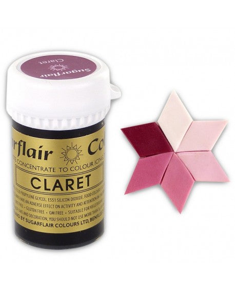 Claret SugarFlair Gel paste