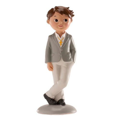 Communion Boy Grey Suit  13cm