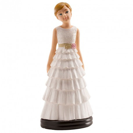 Communion Girl with Tiered Skirt 13cm