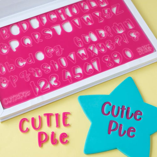 Cutie Pie  SWEET STAMP Uppercase, Lowercase, numbers & Symbols