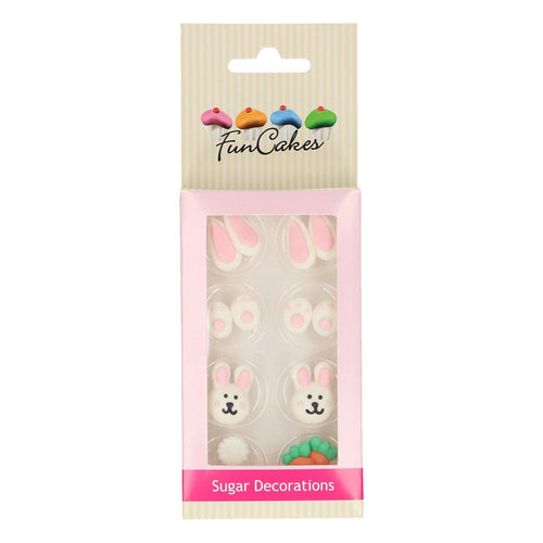 Easter  Bunny  Sugar Decoration Pk 8
