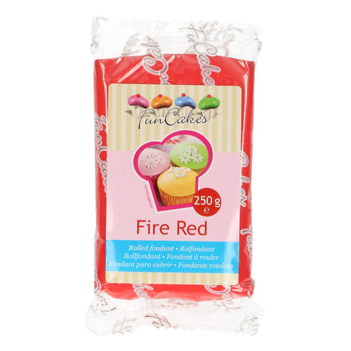 Fire Red  Sugar Paste 250g Funcakes