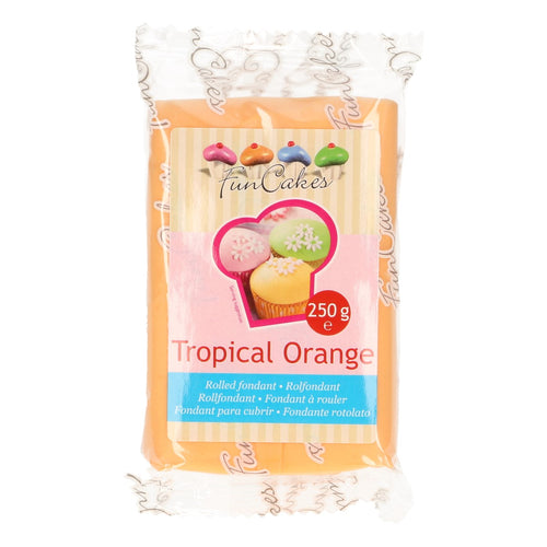 FunCakes Sugar Paste Tropical Orange 250g