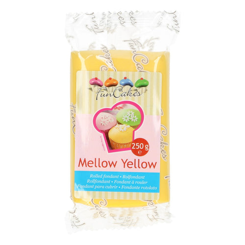 FunCakes Sugar Paste Mellow Yellow 250g