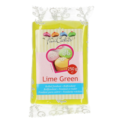 FunCakes Sugar Paste Lime Green 250g