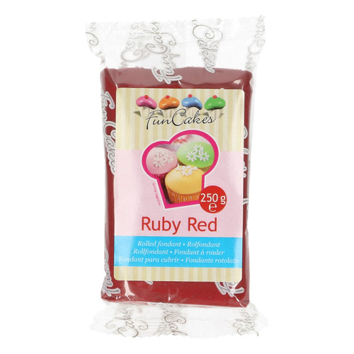 FunCakes Sugar Paste Ruby Red 250g