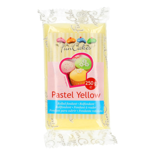 FunCakes Sugar Paste Pastel Yellow 250g