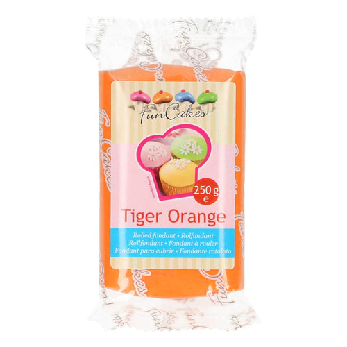 FunCakes Sugar Paste Tiger Orange 250g