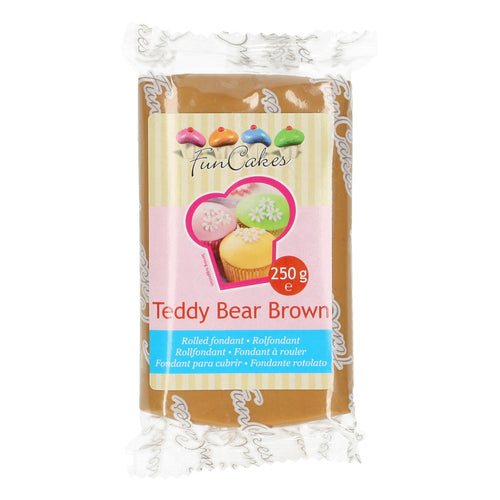FunCakes Sugar Paste Teddy Bear Brown 250g