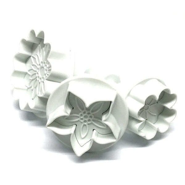Flower Plunger cutters Set 3 DEKOFEE