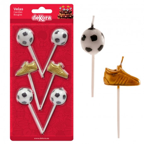 Football Boot Gold Candles