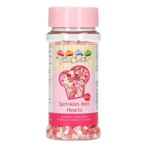 Mini Hearts Sprinkles 60g Red/White/Pink