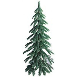 Plastic Green Xmas Tree 5 Pcs
