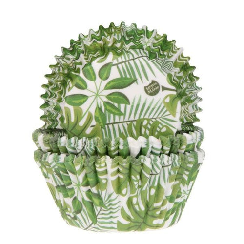 Green Leaves Cup Cake Cases Pk 50 HOM