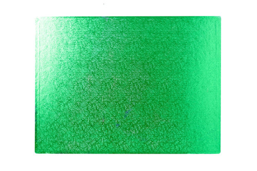 "Green Oblong Double Thick Card 14"" x 10"""