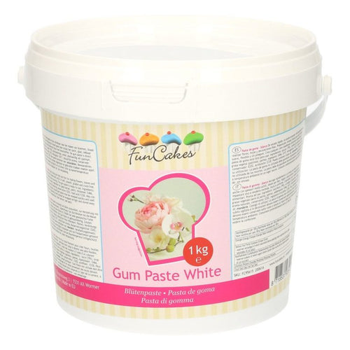 White Gum Paste 1kg FUNCAKES
