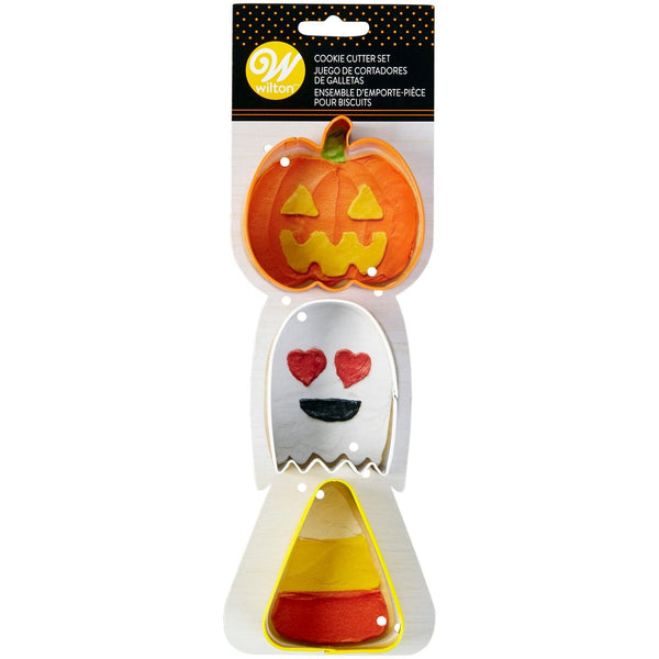 Ghost-Candy Corn Cookie Cutter Set 3 WILTON
