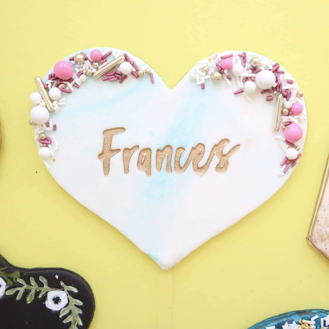 Blank Canvas Topper Heart