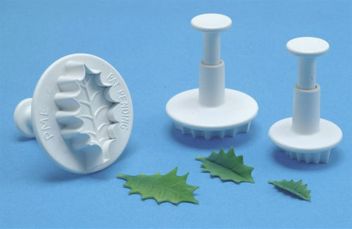 Small Veined Holly Leaf Plungers Set 3 PME