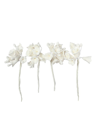 House of cake - 4 Mini Sugar Flower Sprays white