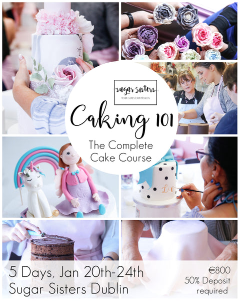 Caking 101 - The Complete Cake Decorating Course - 5 Days, Jan 20th-24th-2020 - Dublin