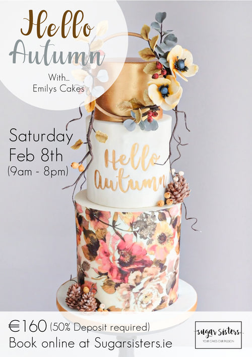 Hello Autumn Class - Sat Feb 8th - Emily's Cakes - Dublin