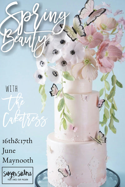 THE CAKETRESS - Spring Beauty Ultimate Wedding Cake Learning Experience June 16th-17th
